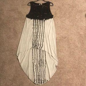 H&M Divided gray high low tank dress